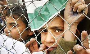 Gaza children at fence
